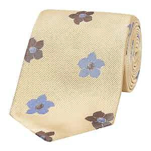 Soft Yellow Bloom Silk Tie