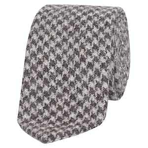 Brown Textured Houndstooth Tie