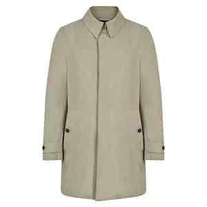 Beige Naviglio Grande Single Breasted Raincoat