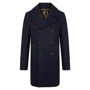 Dark Navy Genova Long Peacoat