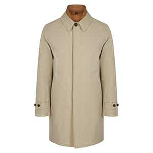 Beige and Gold 3-in-1 Detachable Vest Raincoat