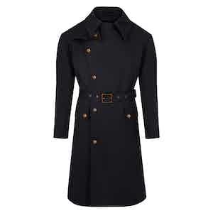 Black Storm Belted Raincoat