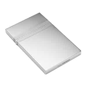 Sterling Silver Business Card Case with Barley Design