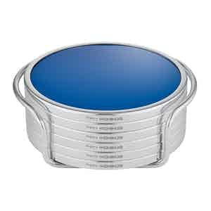 Cobalt and Sterling Silver Coasters