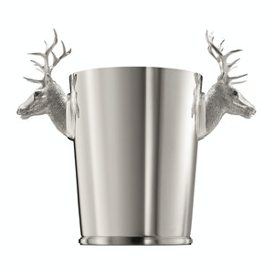 Sterling Silver Stag Head Champagne Cooler