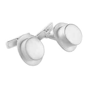 Sterling Silver Top Hat Cufflinks