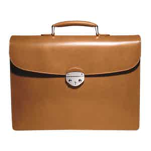 Cinnamon Saddle Hide Leather Hanover 1 Briefcase