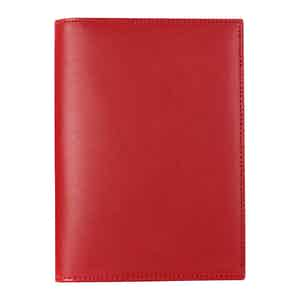 Red Saddle Hide Leather Hanover Passport Case