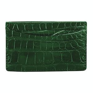 Emerald Crocodile Bond St Card Slip Case