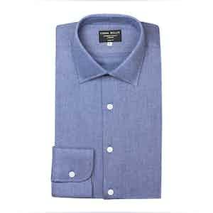 Deep Denim Twill Brushed Cotton shirt
