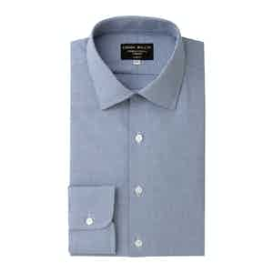 Navy Houndstooth Brushed Cotton shirt