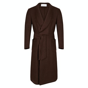Brown Cashmere Dressing Gown