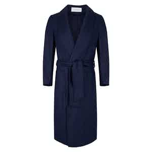 Blue Wool Dressing Gown