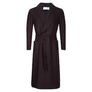 Plum Wool Dressing Gown