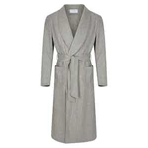 Light Grey Wool Dressing Gown