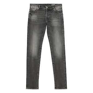 Steel Grey Cotton Denim Jeans