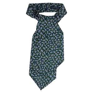 Green Paisley Silk Ascot