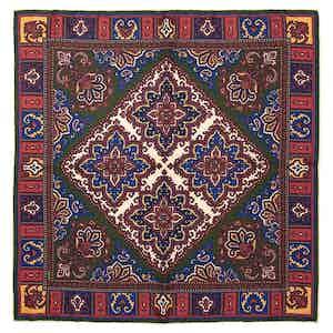Red Aida Silk Pocket Square