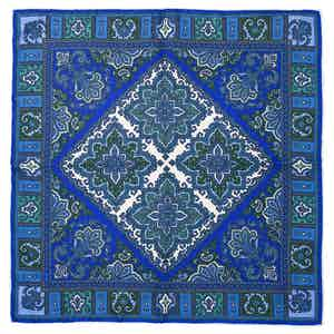 Blue Nabucco Silk Pocket Square