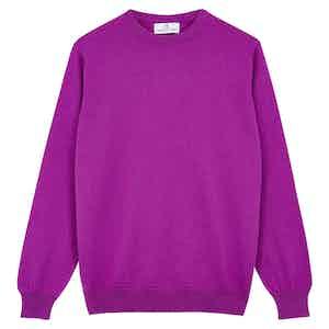 Purple Cashmere Crewneck Jumper
