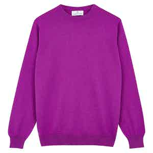 Purple Cashmere Crewneck Jumper
