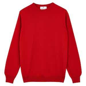 Red Cashmere Crewneck Jumper