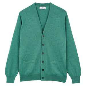 Teal Green Cashmere Cardigan