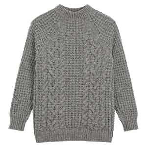 Merino Knitted Raglan Sleeve Crewneck Jumper