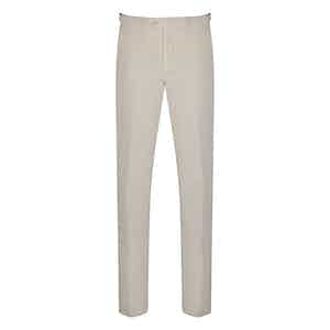 Ghost white Cotton Corduroy Trousers
