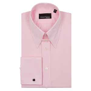 Pink Check Pin Collar Cotton Shirt