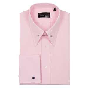 Pink Check Tab Collar Cotton Shirt