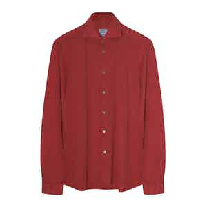 Red Cotton Pique Shirt