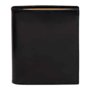 Black and Tan Bridle Hide Mini Wallet with 6 C/C