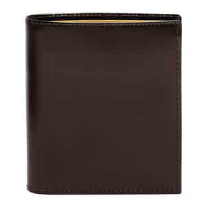 Nut and Tan Bridle Hide Mini Wallet with 6 C/C