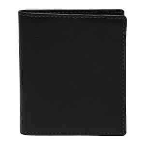 Black Leather Capra Mini Wallet with 6 C/C