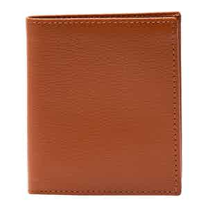 Tan Leather Capra Mini Wallet with 6 C/C