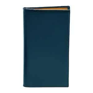 Petrol Blue Bridle Hide Coat Wallet with 8 C/C
