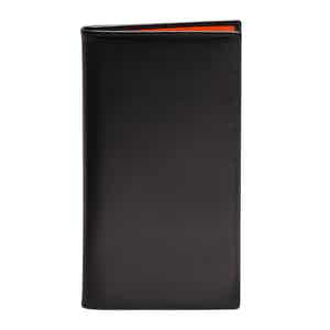 Black and Orange Leather Sterling Coat Wallet with 8 C/C