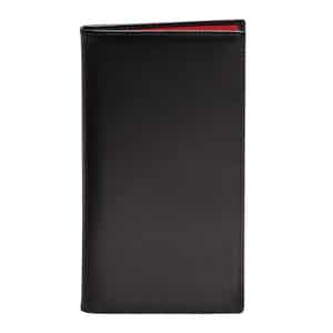 Black and Red Leather Sterling Coat Wallet with 8 C/C