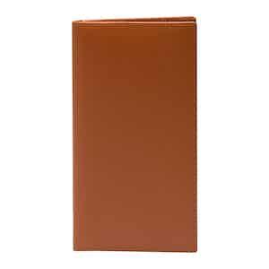 Tan Leather Capra Coat Wallet With 8 C/C