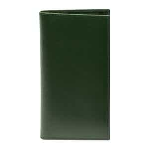 Forest Green Leather Capra Coat Wallet With 8 C/C