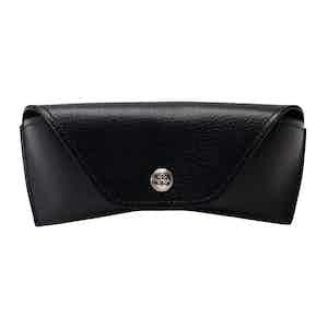 Black Goat Leather Capra Glasses Case