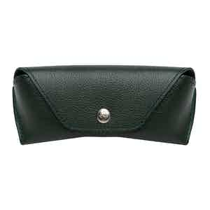 Forest Green Goat Leather Capra Glasses Case