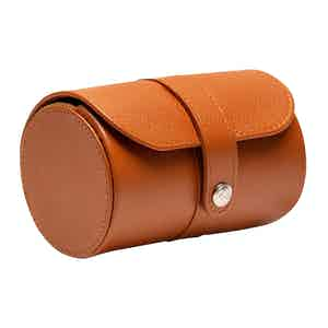 Tan Goat Leather  Capra Double Watch Roll