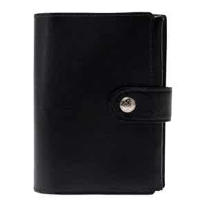 Black Goat Leather Capra Pill Case