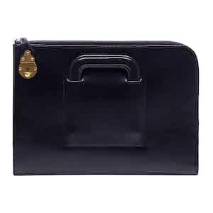 Navy Calf Leather Metropolitan Bakerloo Portfolio Case