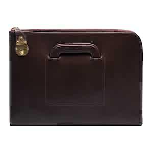 Dark Brown Calf Leather Metropolitan Bakerloo Portfolio Case