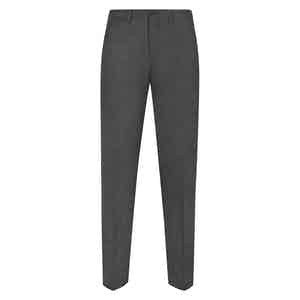 Dark Grey Flannel Trousers