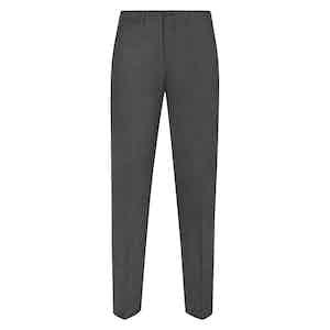 Dark Grey Flannel Trousers