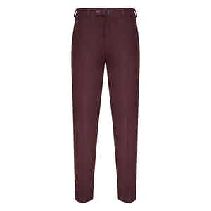 Bordeaux Red Corduroy Trousers